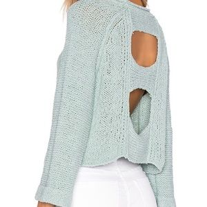 Free People Endless Stories Crop Open Back Sweater